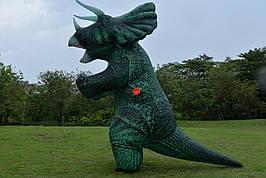 Надувной костюм динозавра (Трицератопса), Triceratops косплей, костюм динозавра Triceratops . Трицератопс