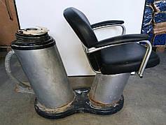 Б/У Парикмахерское кресло без мойки. Кресло для парикмахерской. Черное кресло в парикмахерскую эко кожа