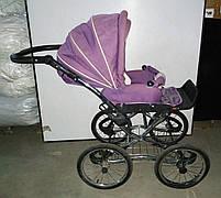 Б/У Прогулянкова коляска для дитини. Легка дитяча коляска фіолетова. Зручна коляска для прогулянок