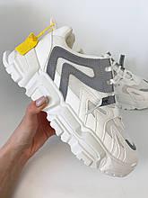 Модные кроссовки мужские со светоотражающими вставками на высокой подошве