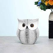Сувенир Белая Сова 16 см из прочного полимерного материала. Статуэтка совы. Миниатюрная модель совы