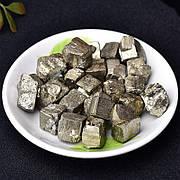 Натуральный камень Пирит 5 шт. Минирал Pyrite 8-15 мм. Серный колчедан. Железный колчедан. Огненный камень.