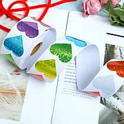 Наклейки для декору різнокольорові сердечка. Стікери для декору сердечка. Наклейки у вигляді сердечок 500 шт/уп.