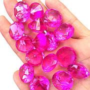 Акриловые бриллианты ярко фиолетового цвета 50 шт./уп. Акриловые драгоценные камни ярко-фиолетовые. Бриллианты