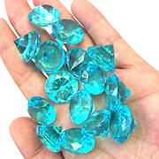 Акрилові діаманти бірюзового кольору 50 шт/уп. Акрилові дорогоцінні камені бірюзові. Діаманти з акрилу.