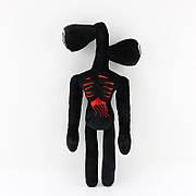 Мягкая игрушка Сирено-головый 40 см. Плюшевый Сайрен-хед черного цвета. Игрушка Siren Head