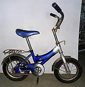 """Б/У Велосипед Салют 12"""" синий. Велосипед для мальчика Салют. Детский велосипед синего цвета"""
