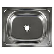 Мойка кухонная, накладная, без сифона, 50х40х11 см, нержавеющая сталь 0.4 мм