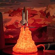 Ночник Спейс шаттл. Ночной светильник Спейс шаттл, USB зарядка. Настольный светильник Space Shuttle