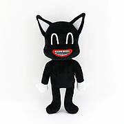 Мягкая игрушка Мультяшный кот SCP 30 см. Плюшевый Мультяшный кот черного цвета. Игрушка Cartoon cat SCP