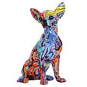 Статуэтка Чихуахуа аквапечать. Фигурка для интерьера Chihuahua 15*13*26 см. Декор, украшение для декора