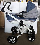 Б/У Универсальная коляска Adamex Gloria 2 в 1. Прогулочная коляска Adamex Gloria синяя. Детская коляска