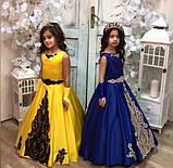 Шикарное длинное платье с золотым или черным купоном Адель на 6-10 лет, фото 2