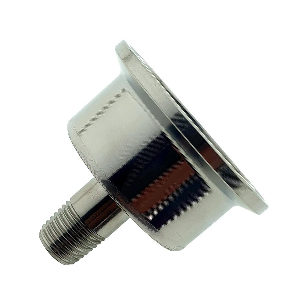 Кламповый штуцер-перехідник 1.5 дюйма зовнішня різьба ¼ дюйма