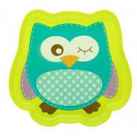 Набор детской посуды Baby Team Тарелка Любимые зверушки (6012_совенок_сал)