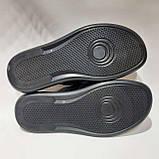 Мужские летние кожаные шлепки Hillfiger Denim (реплика) Черные, фото 8