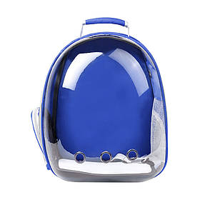 Рюкзак-переноска для кошек Taotaopets 253304 Panoramic 35*25*42cm Синий  КОД: 5535-18241