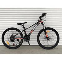 Подростковый велосипед горный одноподвесной 24 дюйма 14 рама Топ Райдер, фото 1