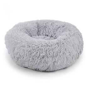 Лежак пуфик для котов собак круглый Taotaopets 552201 Серый L  КОД: 5516-17740