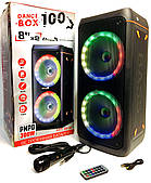 Автономная акустика Eltronic DANCE BOX + DJ управление, Bluetooth, Мощность 200 Ватт, Светомузыка, Черная