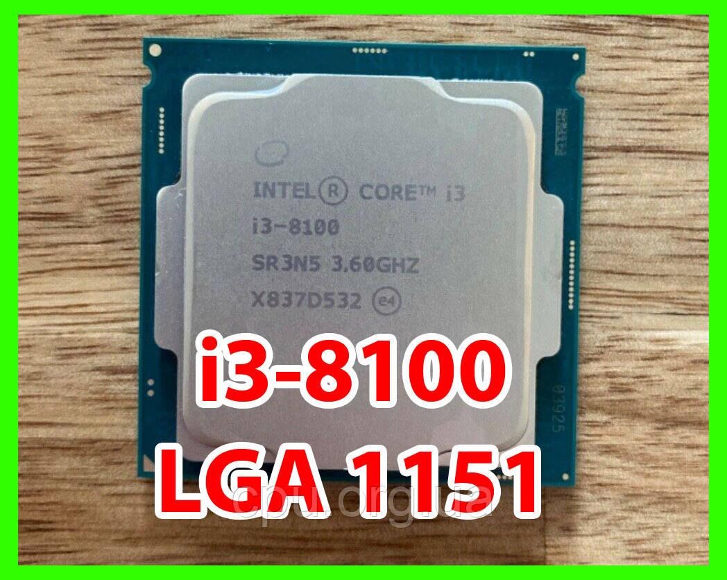 Процесор Intel Core i3-8100 4 ядра 3.60 Ghz / 6M / 8GT/s Coffee Lake LGA1151
