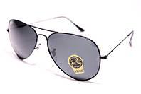 Окуляри сонцезахисні Ray Ban Авіатор краплі скло чорні