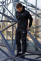 Спортивный костюм мужской Ветровка + Штаны Nike черный | Комплект мужской Найк весенний осенний ЛЮКС качества