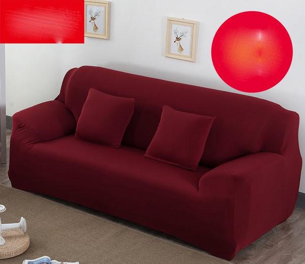Чохли для меблів чохли на дивани 3-х місцеві натяжні, готові чохли на дивани HomyTex Біфлекс Бордовий