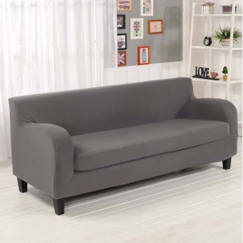 Чехлы на маленькие диваны 2-х местные, чехол на небольшой диван двухместные HomyTex Бифлекс Серый Разные цвета