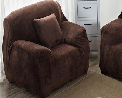 Чехлы на кресла без юбки натяжные, чехлы на кресла HomyTex Замшевый Микрофибра Разные цвета Коричневый