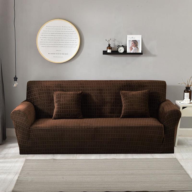 Набор чехлов на угловой диван 3.2 микрофибра Homytex Шоколадный