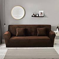 Набор чехлов на угловой диван 3.2 микрофибра Homytex Шоколадный, фото 1