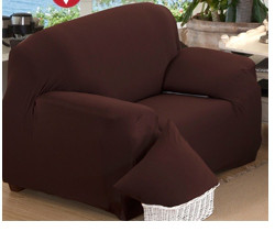 Чехлы на кресла натяжные, натяжной чехол на кресло без юбки HomyTex Бифлекс  Коричневый