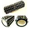Роллер массажный цилиндрический черный (Grid Roller) для йоги, пилатеса 33*13 см