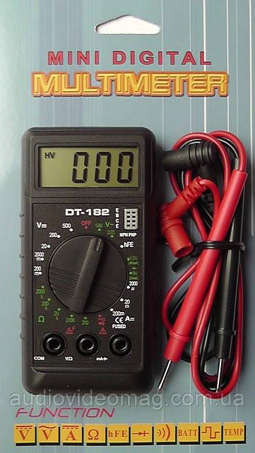 Мини тестер, цифровой мультиметр DT182