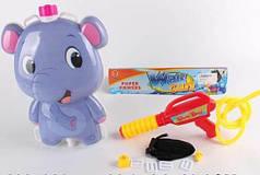 Детский водный пистолет с рюкзаком для воды Слоник Metr+ 1887386_P3166