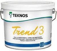 Краска акрилатная TEKNOS TREND 3 для потолков 2,7 л