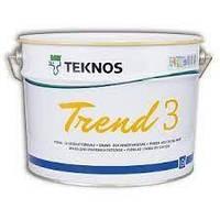 Краска акрилатная TEKNOS TREND 3 для потолков 9 л