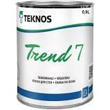 Краска акрилатная TEKNOS TREND 7 для стен и потолков 0,9 л