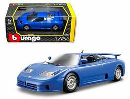 Автомодель 1:24 Bburago Bugatti EB 110  синий 18-22025