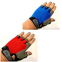 Рукавички для фітнесу, велоперчатки без пальців р. S