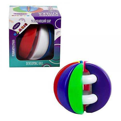 """""""Развивающий шарик"""" 114/15 (12) """"BAMSIC"""", 7 разноцветных полусфер, в коробке"""