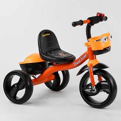 """Велосипед 3-х колёсный 19840 """"Best Trike"""" (1) пено колесо EVA со светом и звуком, звоночек, 2 корзины,"""