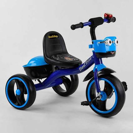"""Велосипед 3-х колёсный 32102 """"Best Trike"""" (1) пено колесо EVA со светом и звуком, звоночек, 2 корзины,"""