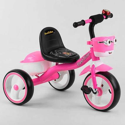 """Велосипед 3-х колёсный 94881 """"Best Trike"""" (1) пено колесо EVA со светом и звуком, звоночек, 2 корзины,"""