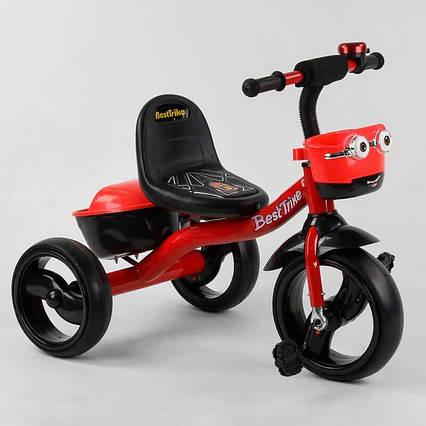 """Велосипед 3-х колёсный 97282 """"Best Trike"""" (1) пено колесо EVA со светом и звуком, звоночек, 2 корзины,"""