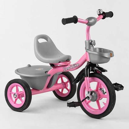 """Велосипед 3-х колёсный BS-1142 """"Best Trike"""" (1) резиновые колеса, переднее d=10'', заднее d=8'', звоночек, 2"""