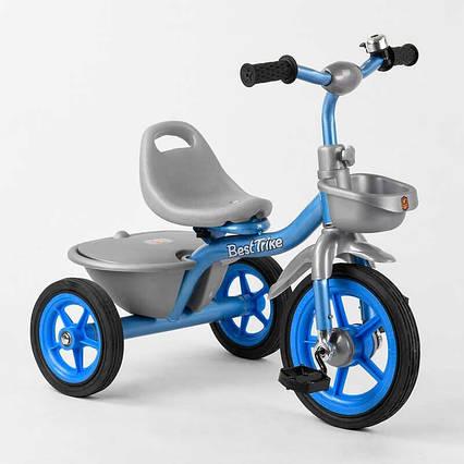 """Велосипед 3-х колёсный BS-2478 """"Best Trike"""" (1) резиновые колеса, переднее d=10'', заднее d=8'', звоночек, 2"""