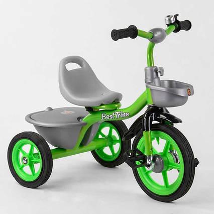 """Велосипед 3-х колёсный BS-3615 """"Best Trike"""" (1) резиновые колеса, переднее d=10'', заднее d=8'', звоночек, 2"""