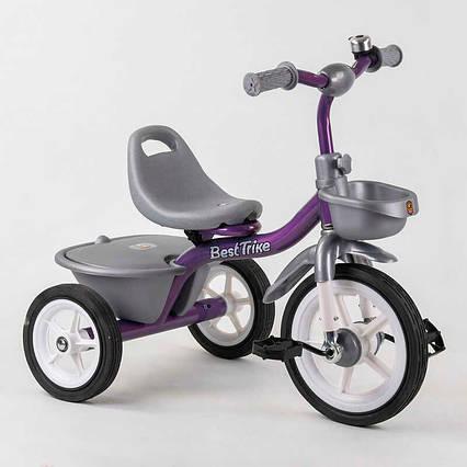 """Велосипед 3-х колёсный BS-4298 """"Best Trike"""" (1) резиновые колеса, переднее d=10'', заднее d=8'', звоночек, 2"""